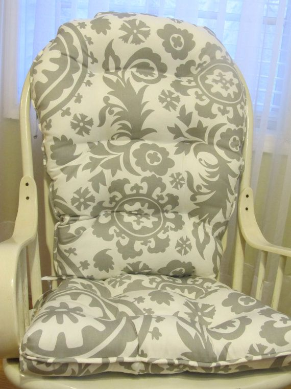 Tufted Rounded Back Glider Or Rocking Chair Cushion By Homestyled