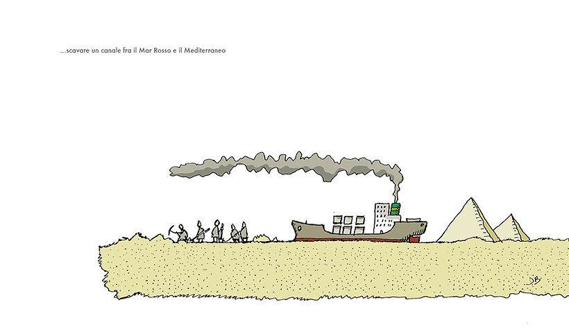 ci sono voluti dieci anni per scavare il canale di Suez