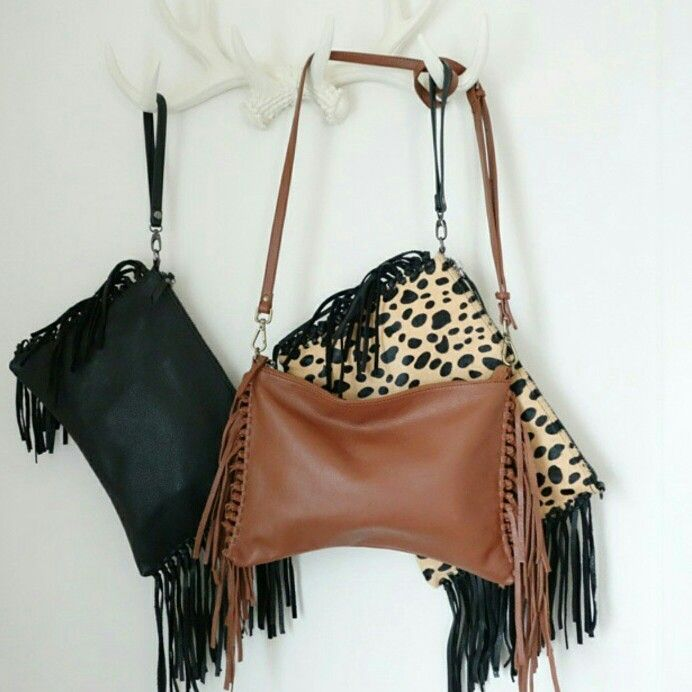 Leather Fringe Crossbody Bags now available  20% SALE  www.sunnygirlboutique.com