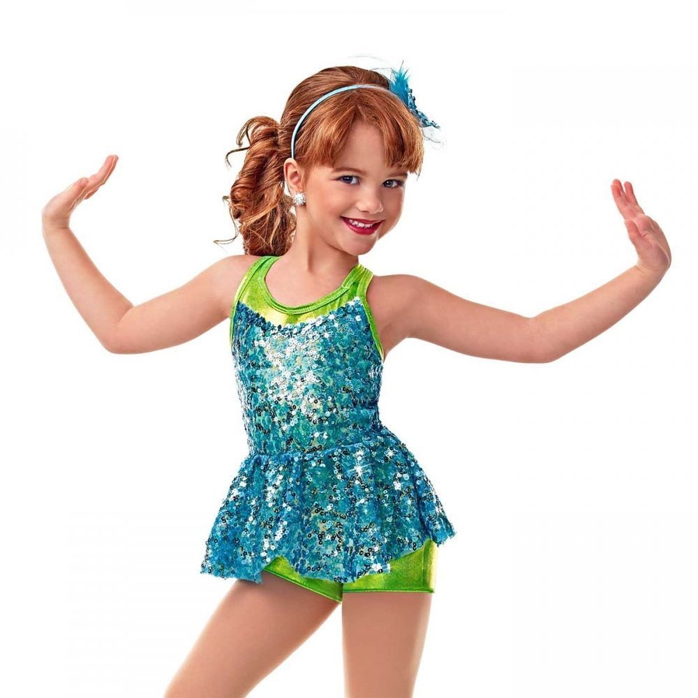 Curtain Call On Stage E1002 Cxs 2 In 1 Dance Costume Girls Nwt