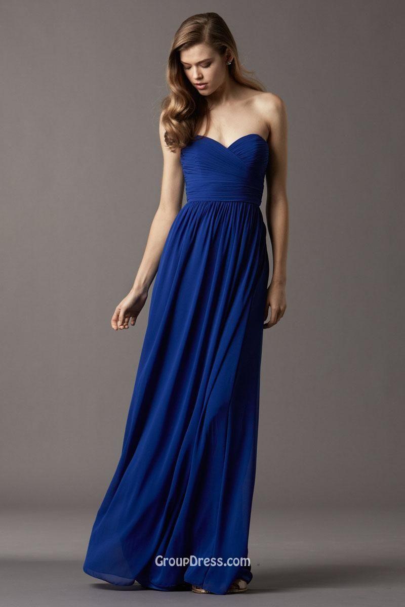 Blue strapless dress outfits pinterest chiffon dress and blue strapless dress ombrellifo Choice Image