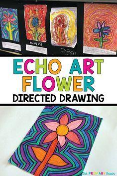 Echo Art Flowers in the Classroom