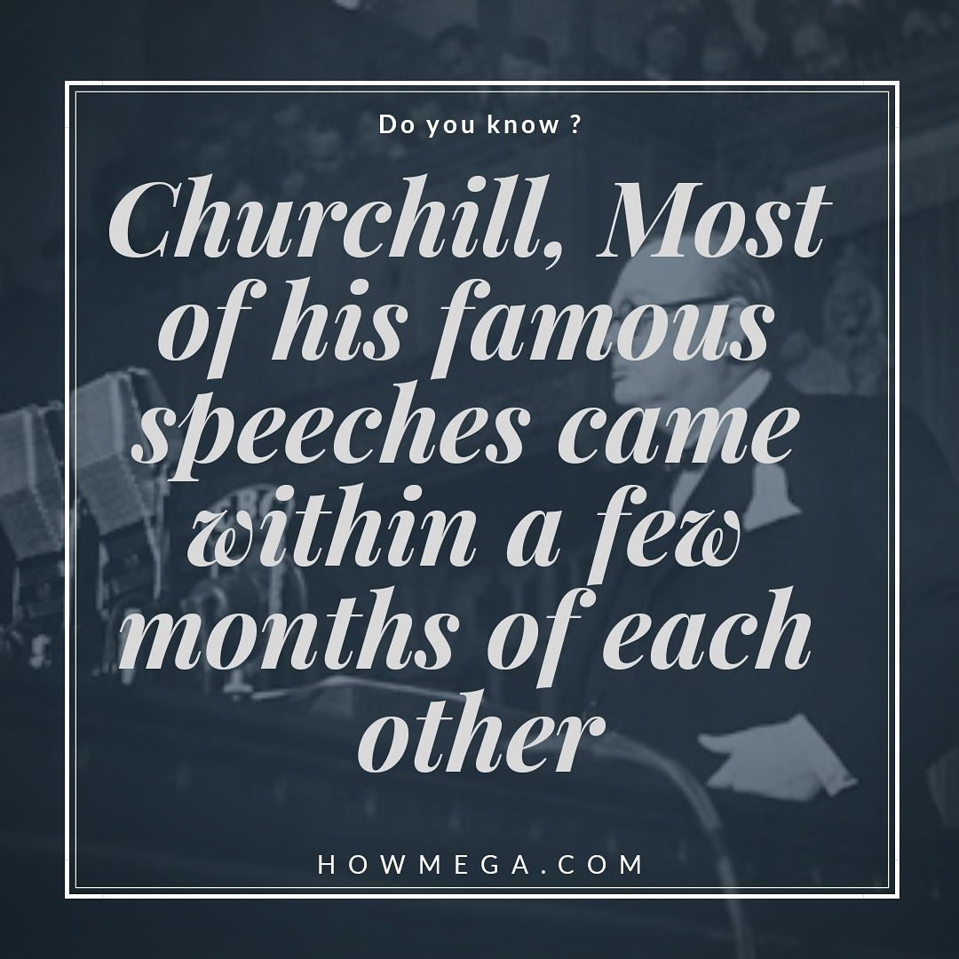 do you know ? Churchill, Most of his famous speeches came within a few months of each other. #doyouknow #culture #knows #learn #famous #cult #history #histoire #knowing #brains #smart #mind #smartminds #first #nationalgeographic #science #screen #scientific #scientist  #world #populaire #population #friends #churchill #speech #famousspeeches do you know ? Churchill, Most of his famous speeches came within a few months of each other. #doyouknow #culture #knows #learn #fam #famousspeeches