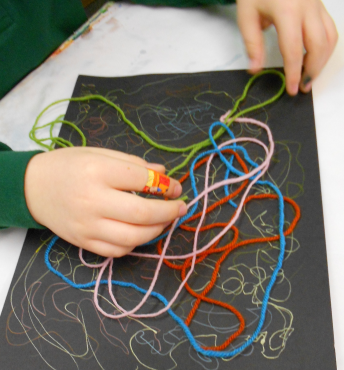 Explorations in Art: (KG) Creating in the style of Brice Marden