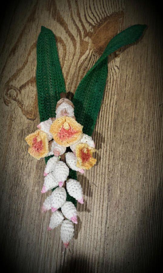 Crochet Shell Ginger Tropical Flower - Crochet creation by SRO ...