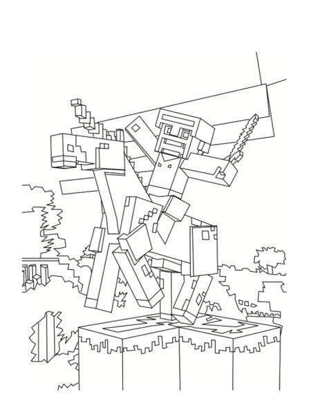 Minecraft Coloriage Minecraft Coloring Pages Minecraft Coloring