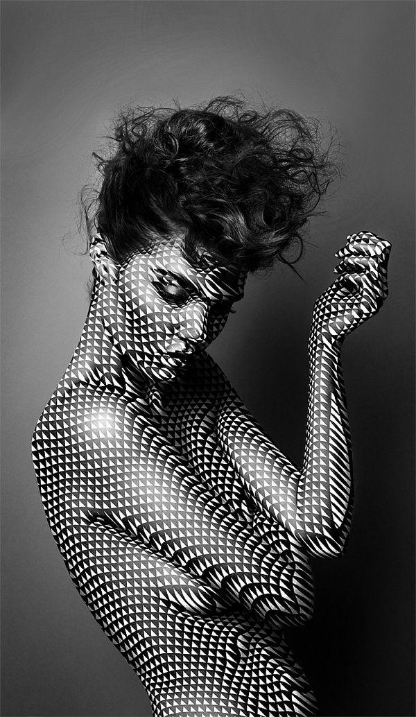 body art model editorial graphic design style fashion