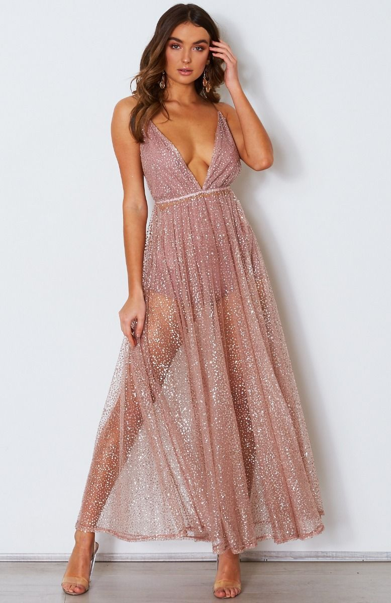 49abf77f Zina Glitter Gown Rose Gold | Dręssęs | Dresses, Dresses online ...