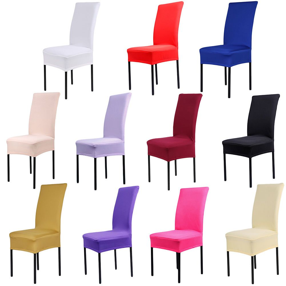 Chair Covers Wedding Ebay Upholstered Glider 4 59 Aud Universal Spandex Dining Banquet Seat Cover Party Decor Home Garden