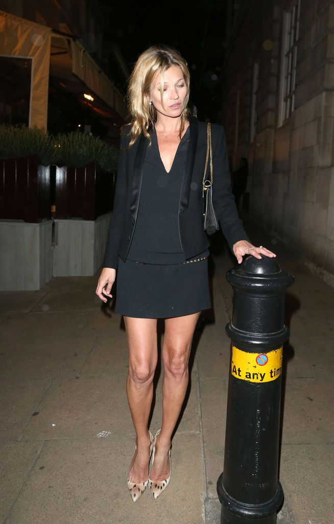 Kate Moss leaves Loulou's private members club in London on June 17, 2013.