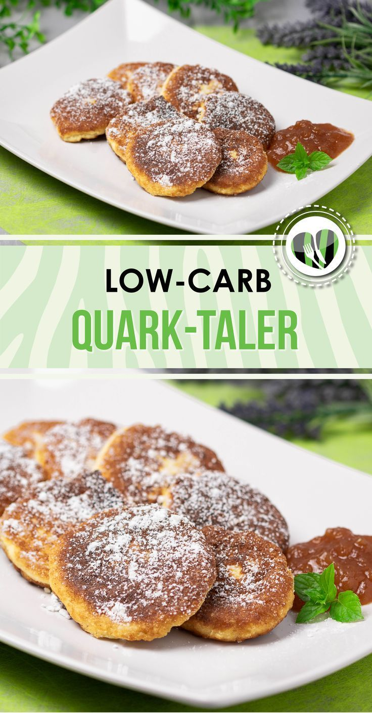 Low Carb Quark-Taler #sugarfreedesserts