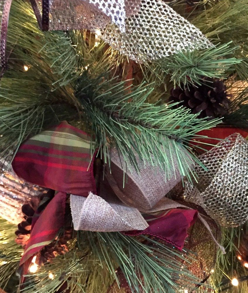 Decorating Christmas Trees With Ribbon: Most People Struggle With Ribbon, But This Designer's