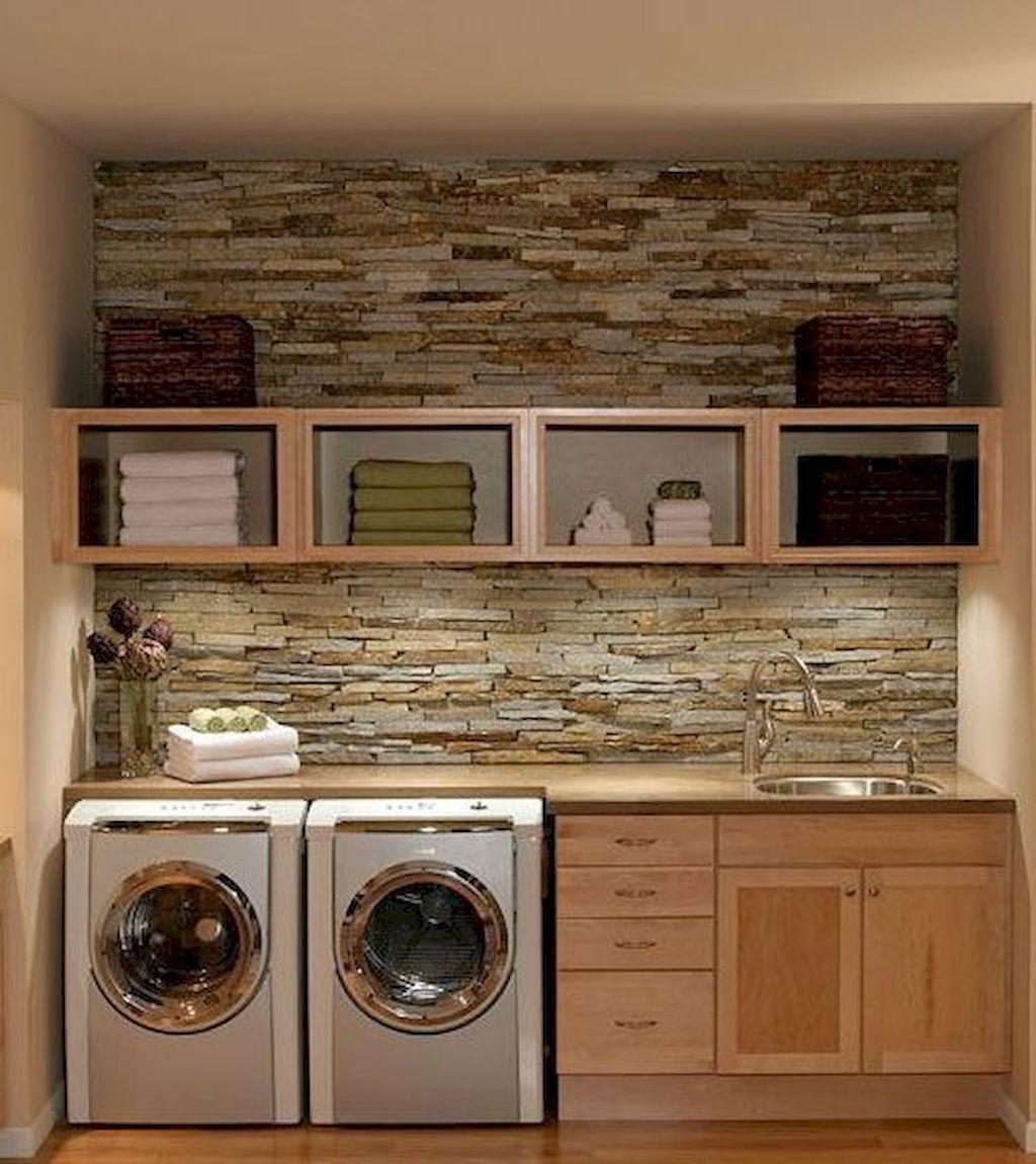 Farmhouse Laundry Room Storage Decoration Ideas