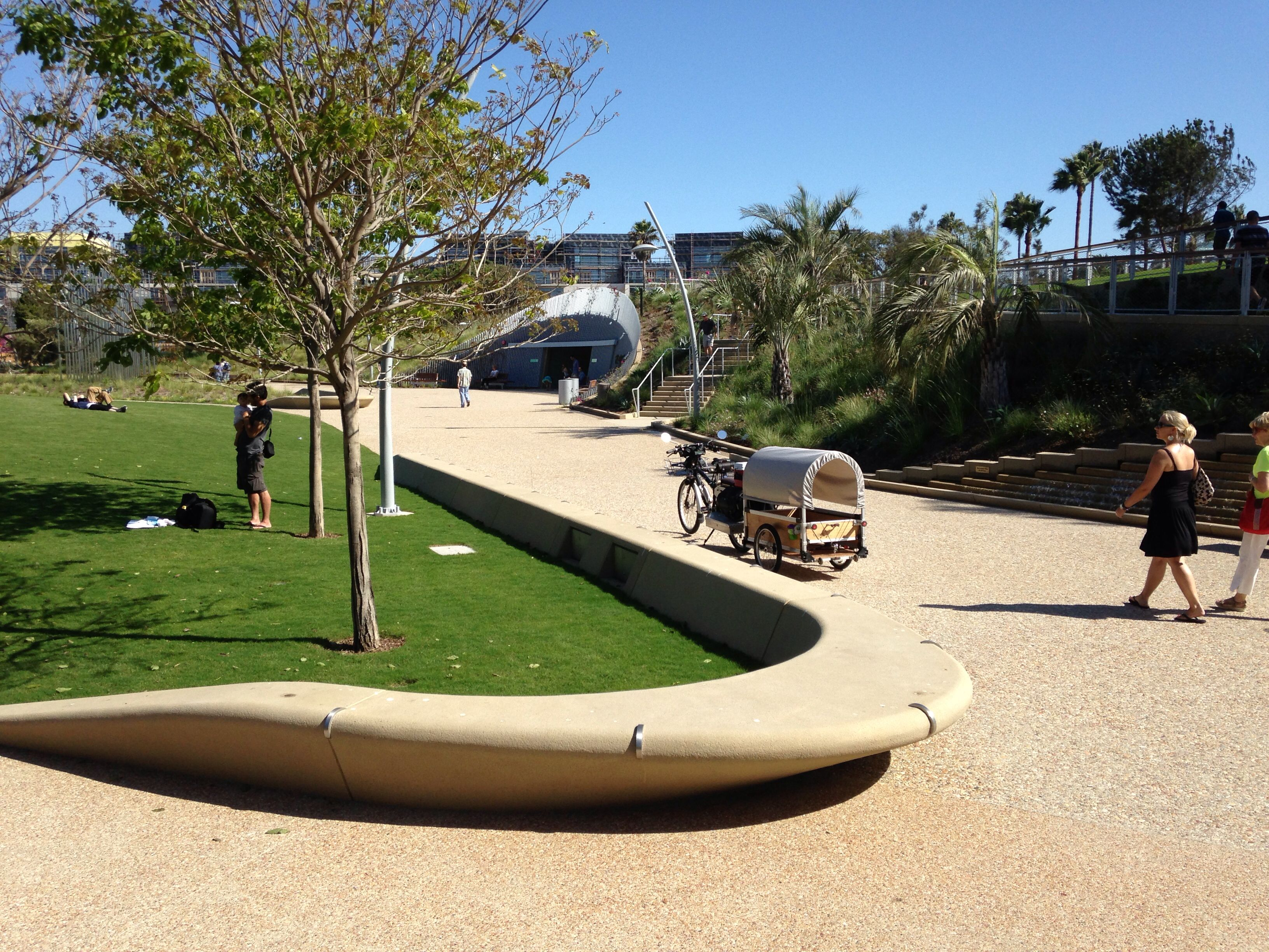 tongva park curbs as benches parks pinterest. Black Bedroom Furniture Sets. Home Design Ideas