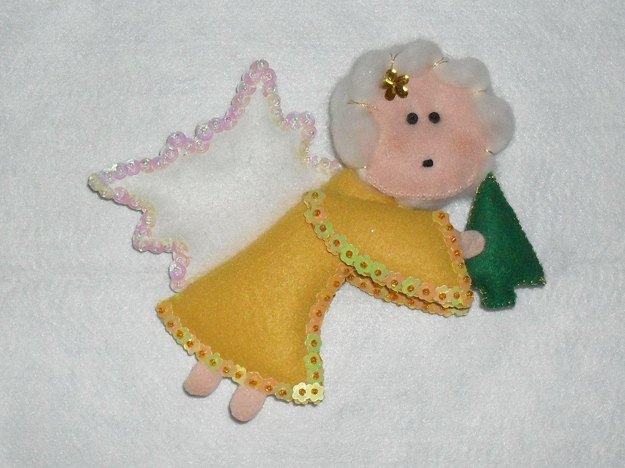 Enfeite de anjo para arvore de natal