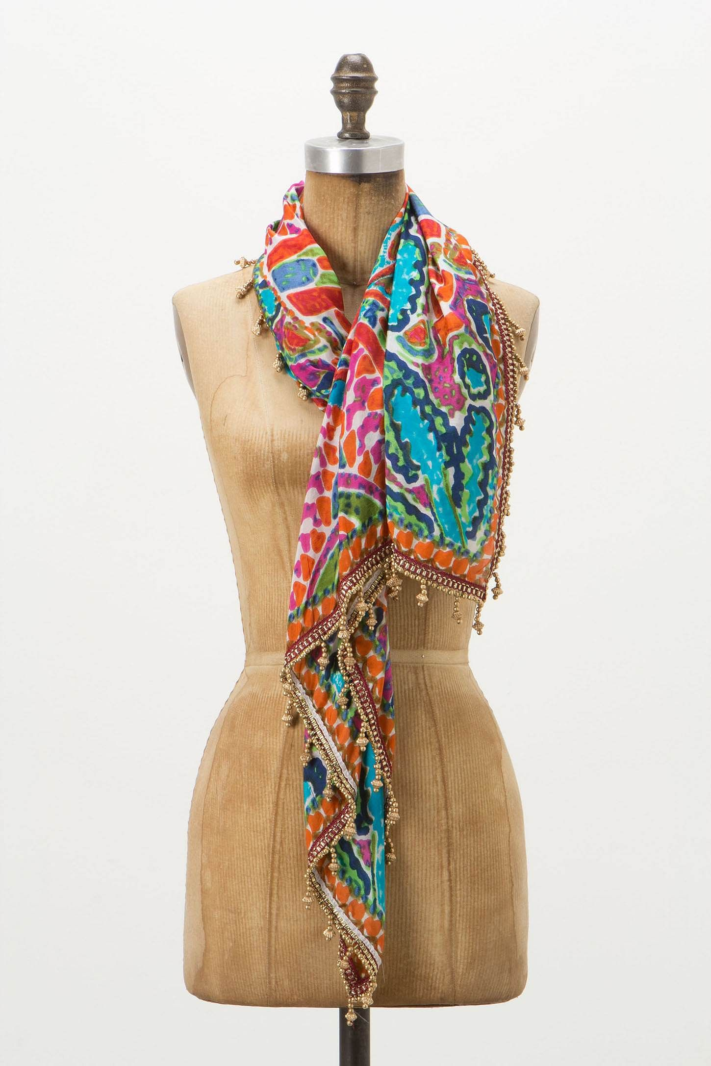 Longwood Floral Scarf - Anthropologie.com