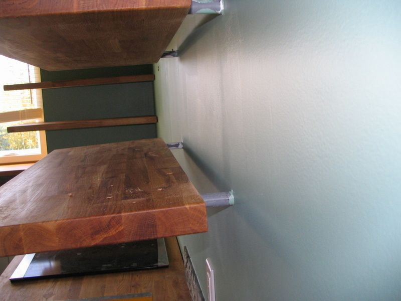 Turning Ikea Butcher Block Into Floating Shelves Kitchen