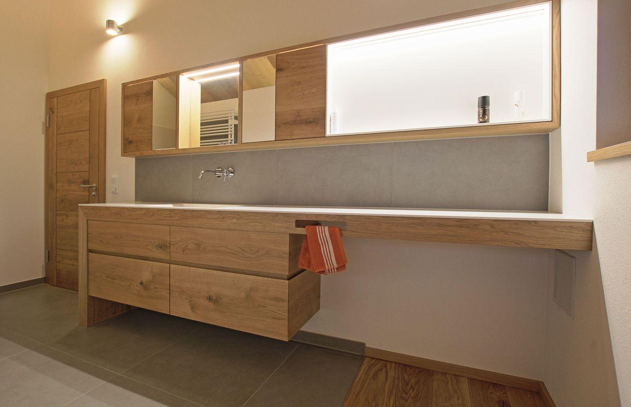 Waschtisch Gehrung Schreinerei Baier Mit Bildern Badezimmer Modernes Badezimmerdesign Badezimmerideen