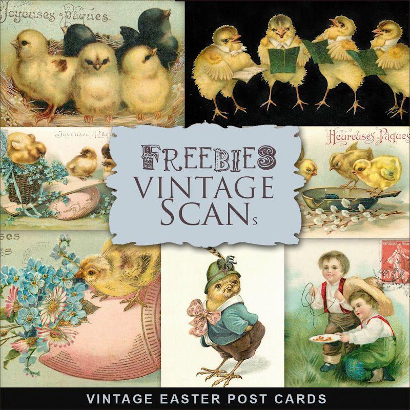 Far Far Hill: Freebies Vintage Easter Post Cards