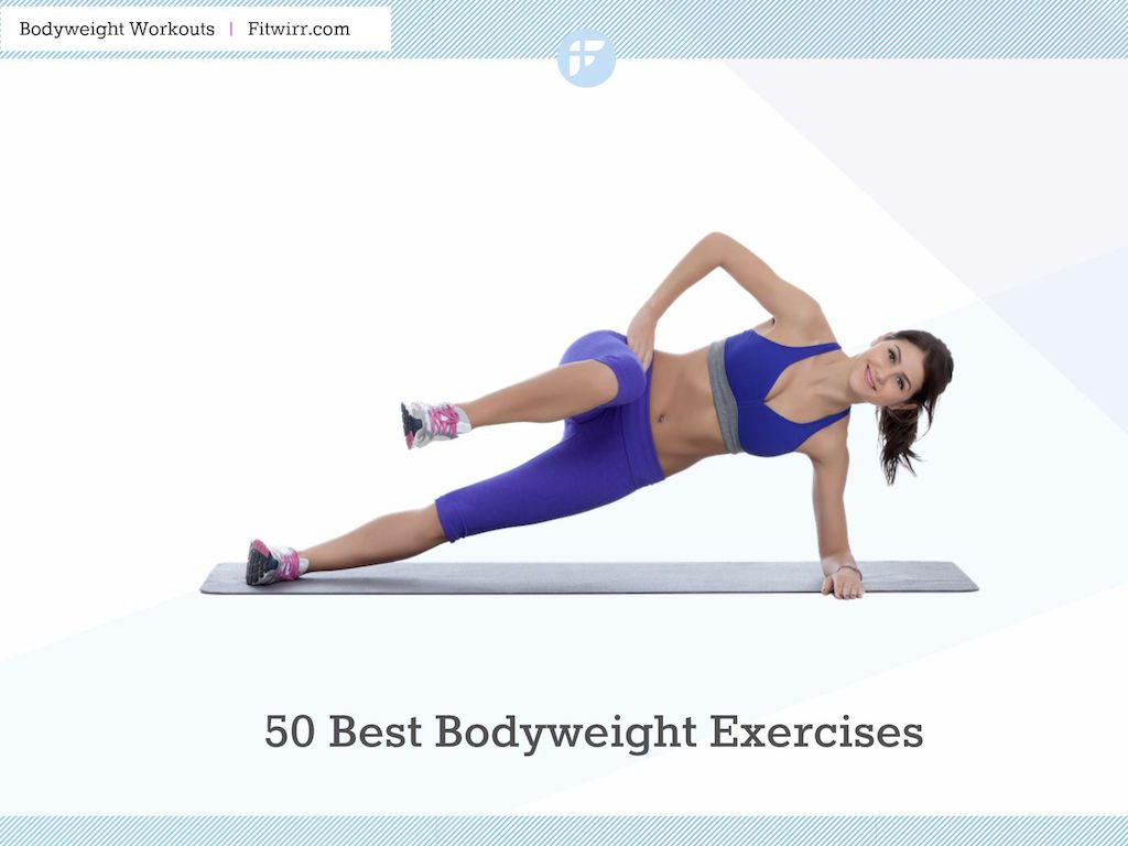 50 Best Bodyweight Exercises You Can Do Anywhere To Get Fit