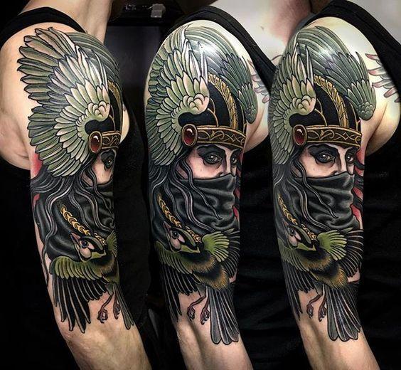 a4139bc3c5157 Valkyrie Tattoo by Rakov Serj | valkyrie tattoo | Valkyrie tattoo ...
