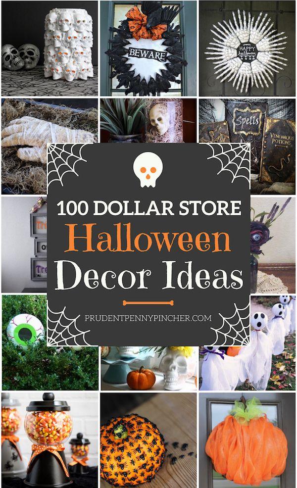 100 Dollar Store Halloween Decorations Party ideas Pinterest
