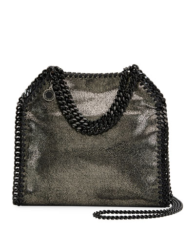 18031f88f5 Stella Mccartney Falabella Mini Shiny Dotted Chamois Tote Bag ...