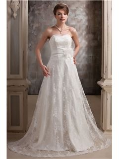 New Style A-line Sweetheart Floor-length Daria's Court Wedding Dress
