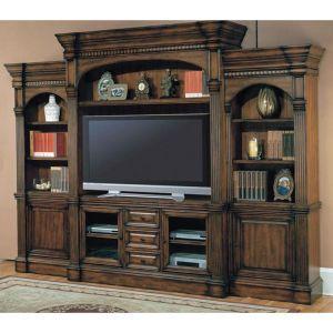 parker house genoa collection 4 piece entertainment wall unit