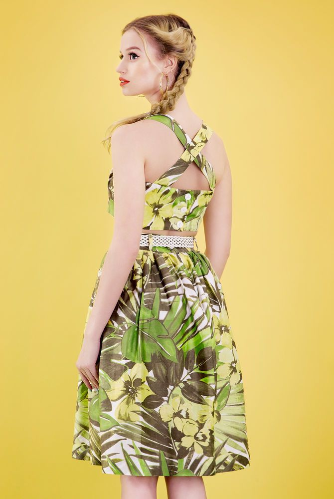 Tara Starlet 1940s 40s Style: Tara Starlet 50s/60s Full Skirt Vintage/palm Print