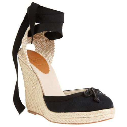 Christian Louboutin Carino Plato 120Mm Wedges Black Discount