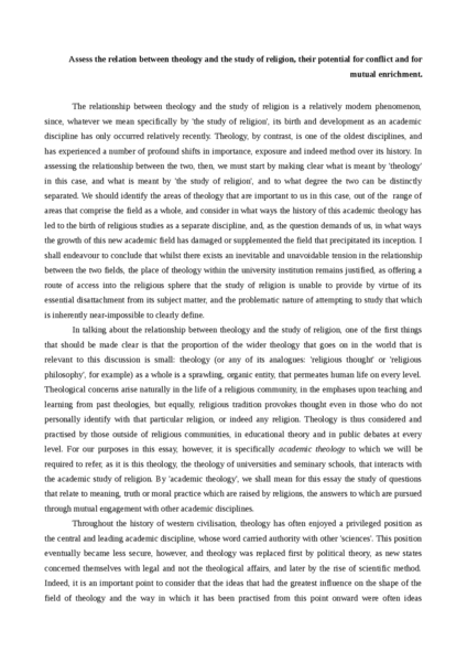 essays religion schools