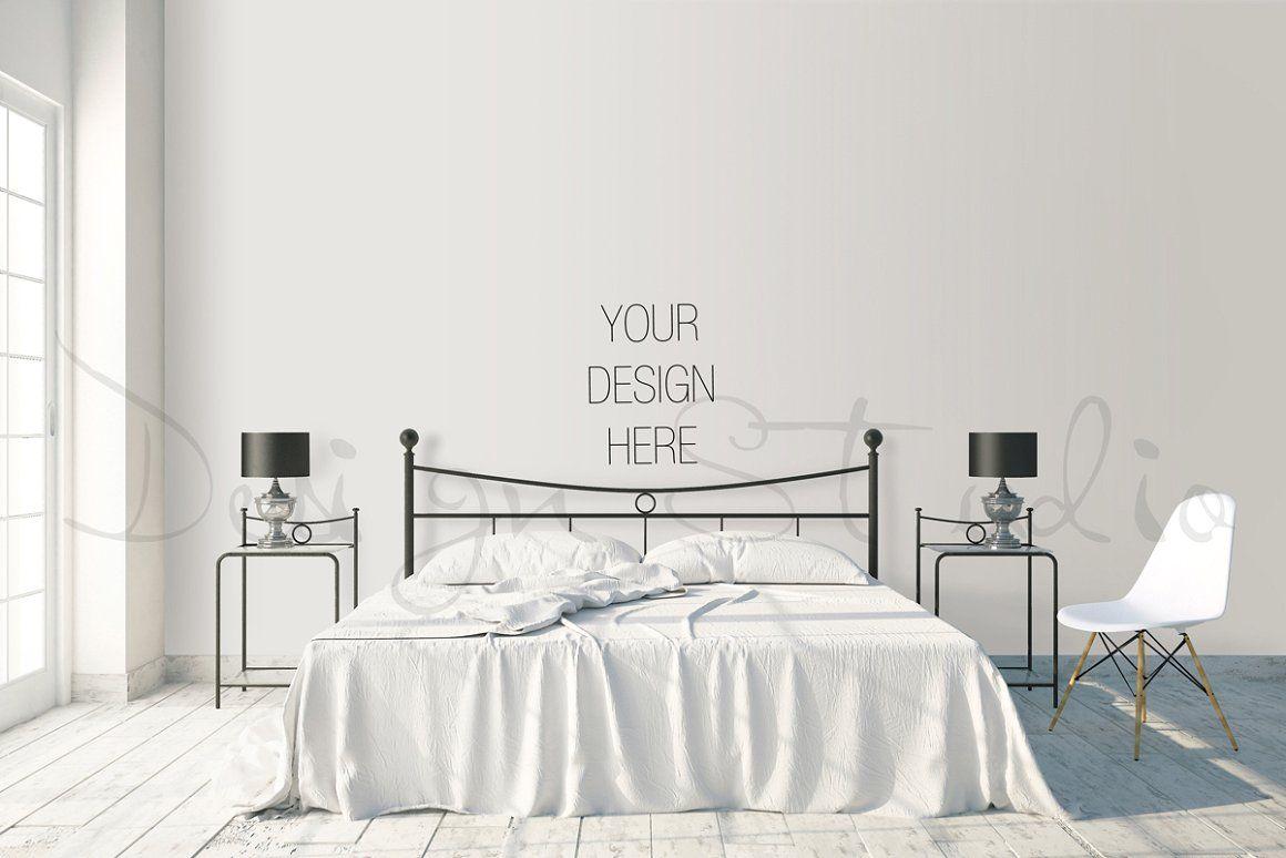 Interior Psd Bedroom Photography Product Mockups Mock Ups