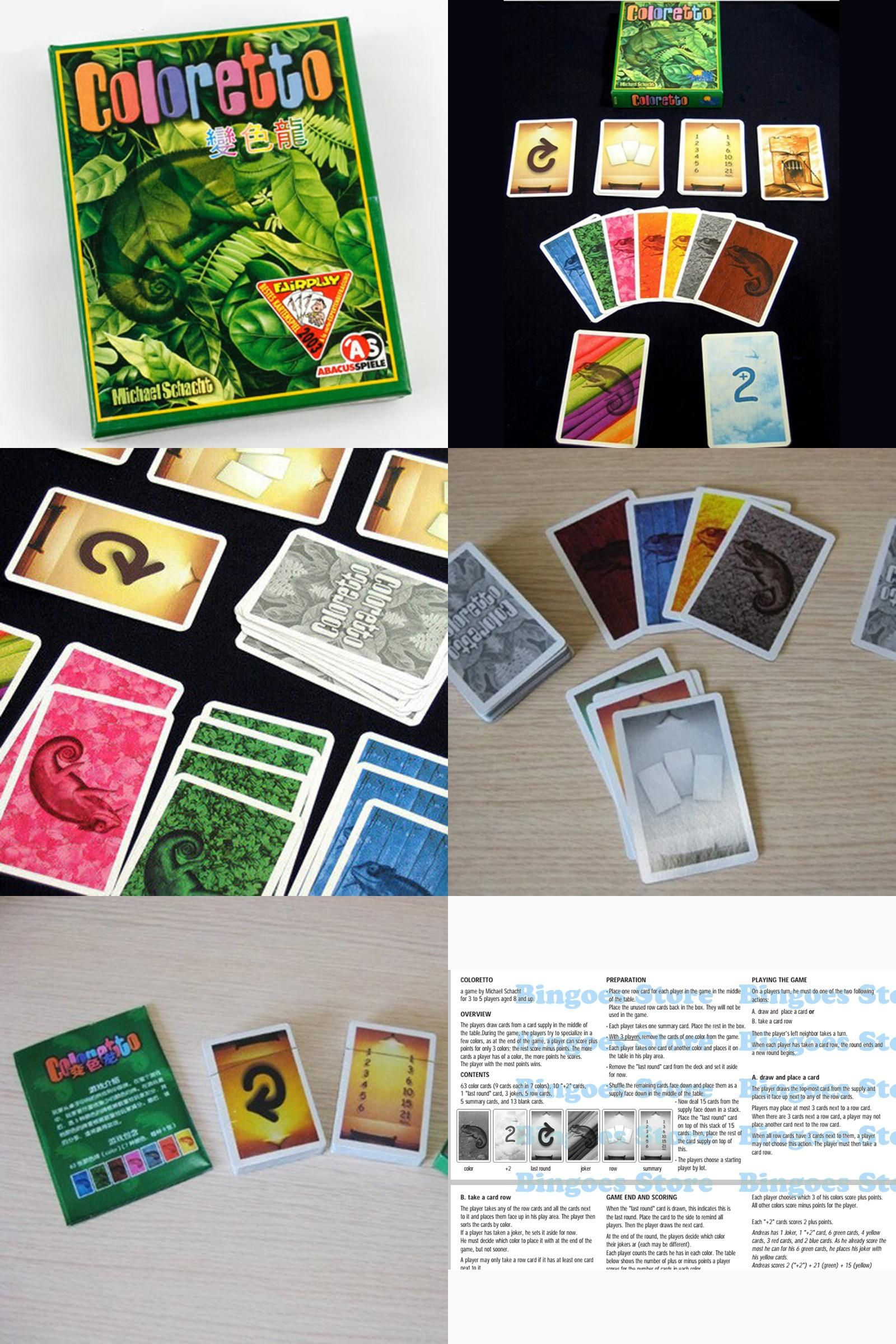Visit To Buy Coloretto Board Game   Players Funny Cards Games High