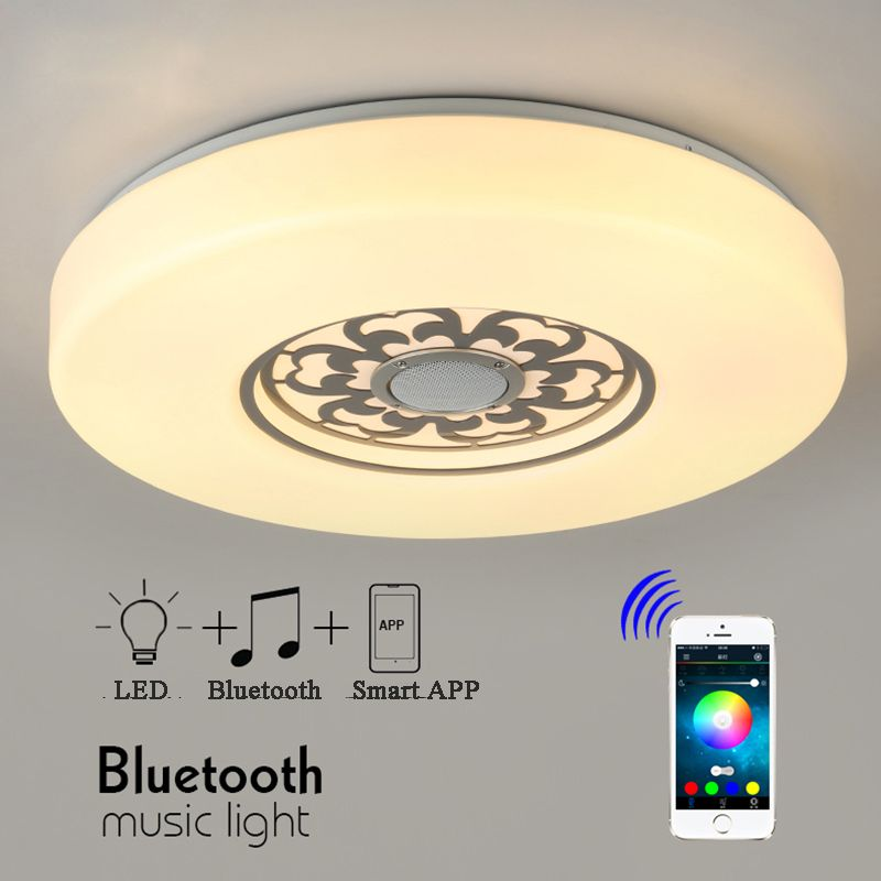 Pmma rgb dimmable led ceiling light with app bluetooth music ac pmma rgb dimmable led ceiling light with app bluetooth music ac 110240v led aloadofball Choice Image