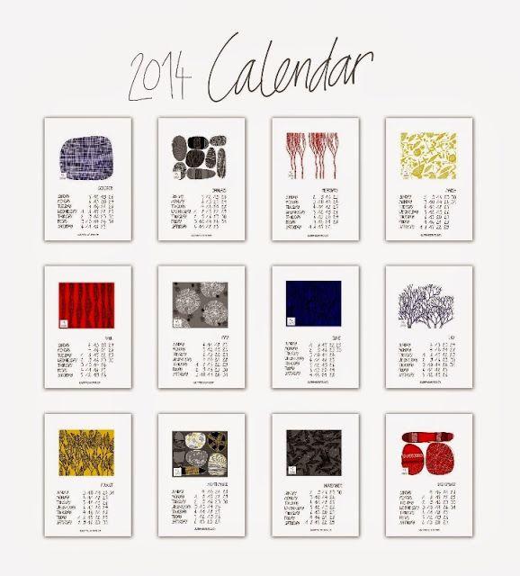 Free printable calendar from Francesca Lancisi to make and do - printable calendars
