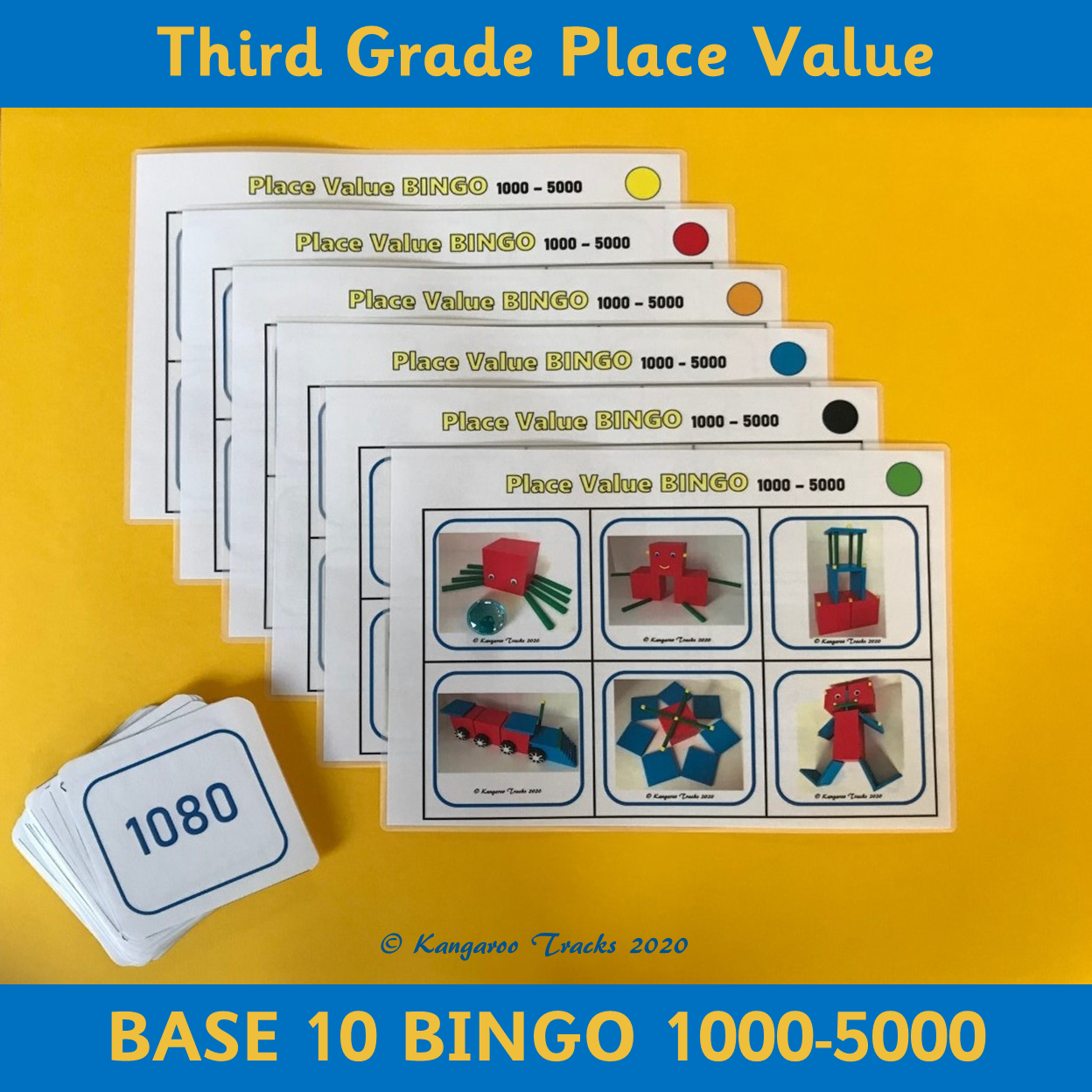 Base 10 Bingo 3rd Grade Place Value In