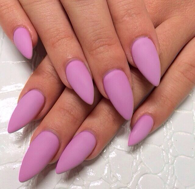 Matte Lavender Stiletto Nails | Nails 2 ❤ | Pinterest | Sns nails ...
