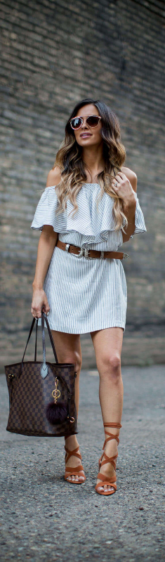 Summer Stripes // Fashion Look by Mia Mia Mine