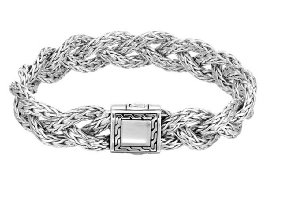 John Hardy Bracelet Classic Chain Braided Wide Rope New Johnhardy Chain New Nwt Tag Sale Disc John Hardy Jewelry John Hardy Bracelet John Hardy Necklace