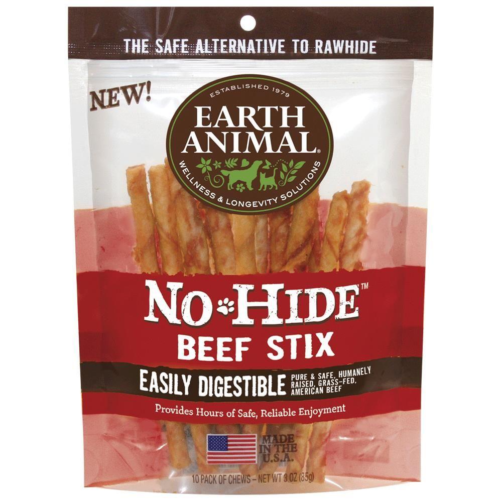 Earth Animal No Hide Beef Stix Dog Treats Organic eggs