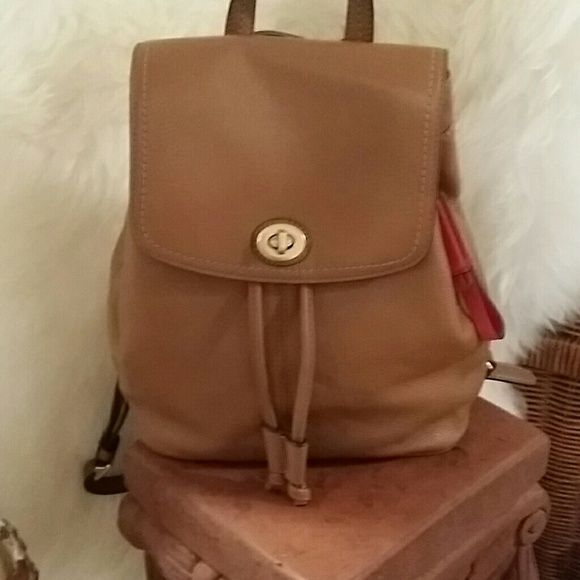 Coach Purse Coach Park Leather Backpack ...used 1 time...still smells brand new. ..perfect no marks or scuffs inside or out. Coach Bags