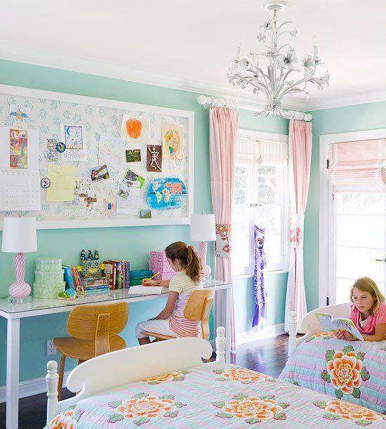 18 Shared Girl Bedroom Decorating Ideas Make It And Love It Shared Girls Room Shared Girls Bedroom Children Room Girl