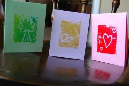 Block Prints from Foam Meat Trays