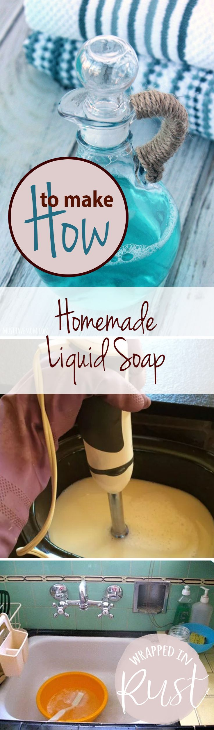 How to Make Homemade Liquid Soap Jabón líquido de manos