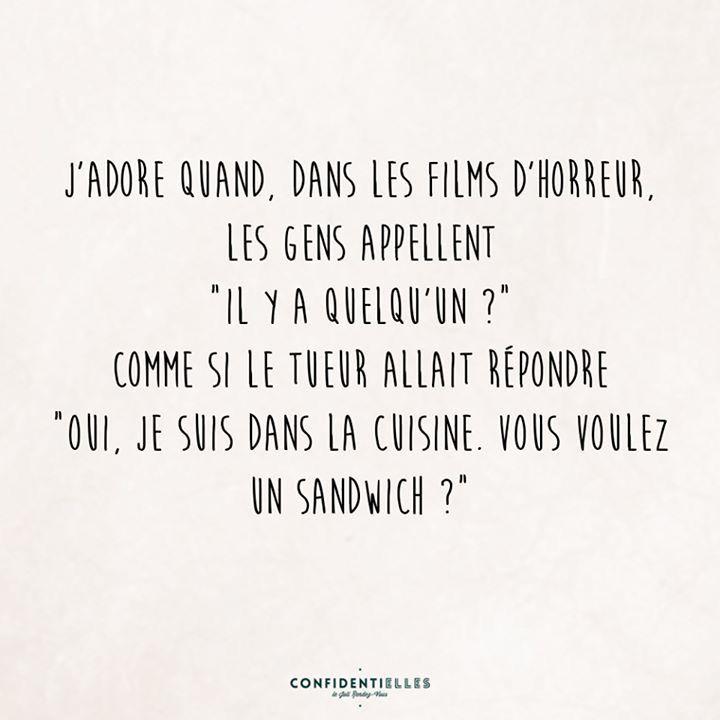 Les Films D Horreur Phrase Humoristique Humour Film Horreur