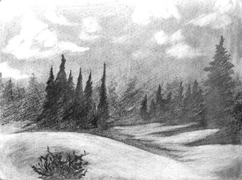 black and white drawings of landscapes - Google Search