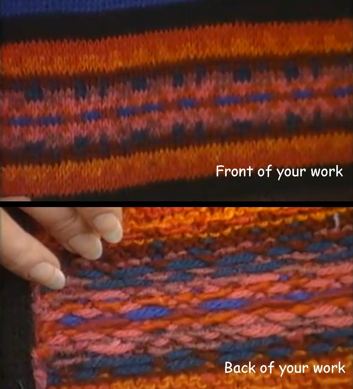 Color on the BOND-2: Fair Isle Stranding on the knitting machine ...