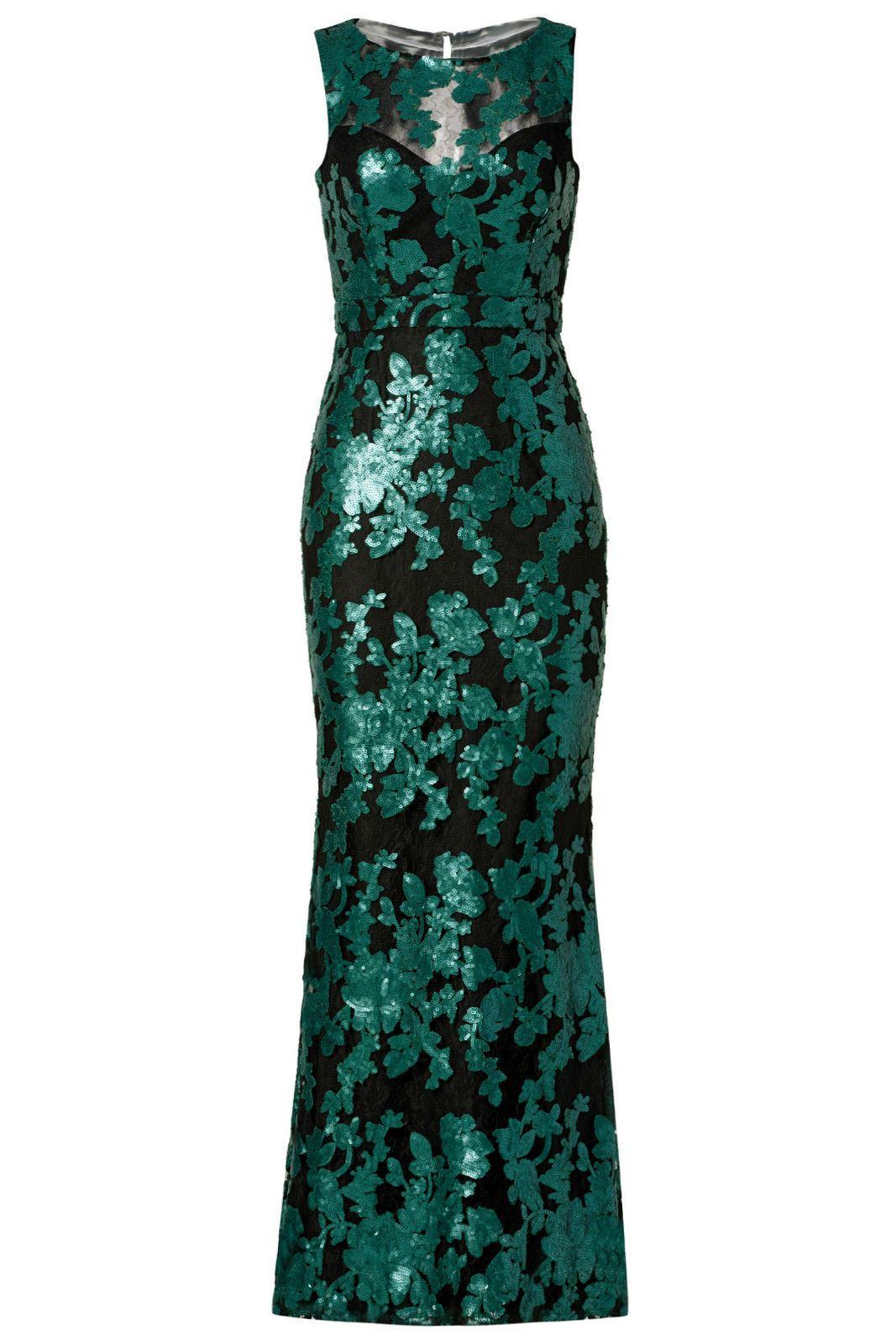 Cool great badgley mischka green black sequin womenus size ball