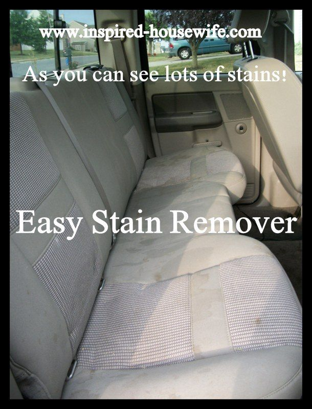 Best Stain Remover For Car Upholstery Cleaning Hacks Car
